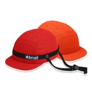 Kask rowerowy Krust red/black/orange z zapasową czapką, rozmiar S