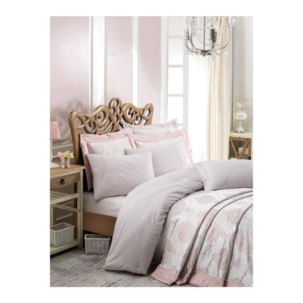 Narzuta na łóżko dwuosobowe z poszewkami na poduszki Luna, 260x260 cm