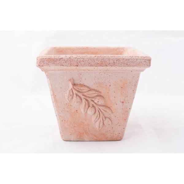 Doniczka ceramiczna Olive 32 cm, czerwona