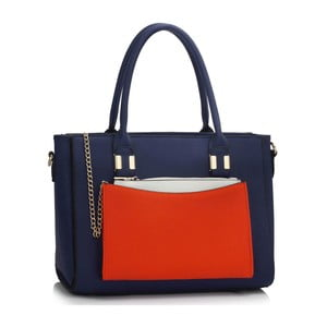 Torebka L&S Tatiana Navy & Orange