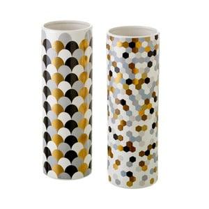 Zestaw 2 ceramicznych wazonów Unimasa Mold
