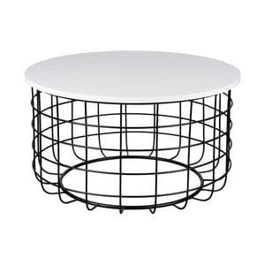 Czarno-biały stolik sømcasa Celso, ø80cm