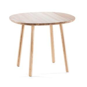Naturalny stół do jadalni z litego drewna EMKO Naïve, 90 cm