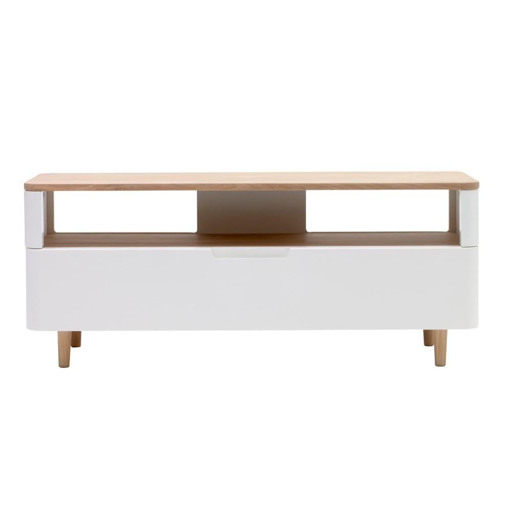 Szafka pod TV z drewna białego dębu Unique Furniture Amalfi