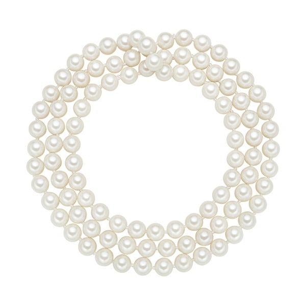 Perłowy naszyjnik Muschel, białe perły 8 mm, długość 90 cm