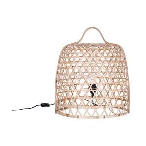 Jasna stojąca lampa bambusowa Canett Octavio, ⌀45cm