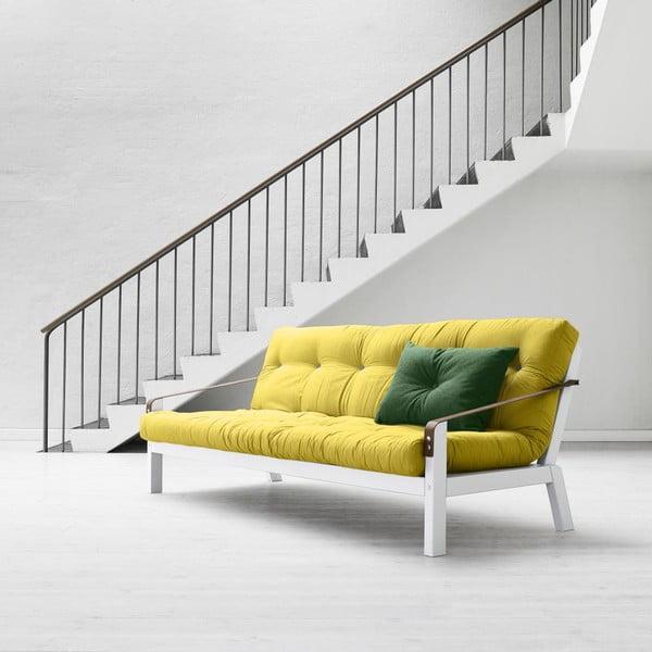 Sofa rozkładana Karup Poetry White/Pistacio/Gris
