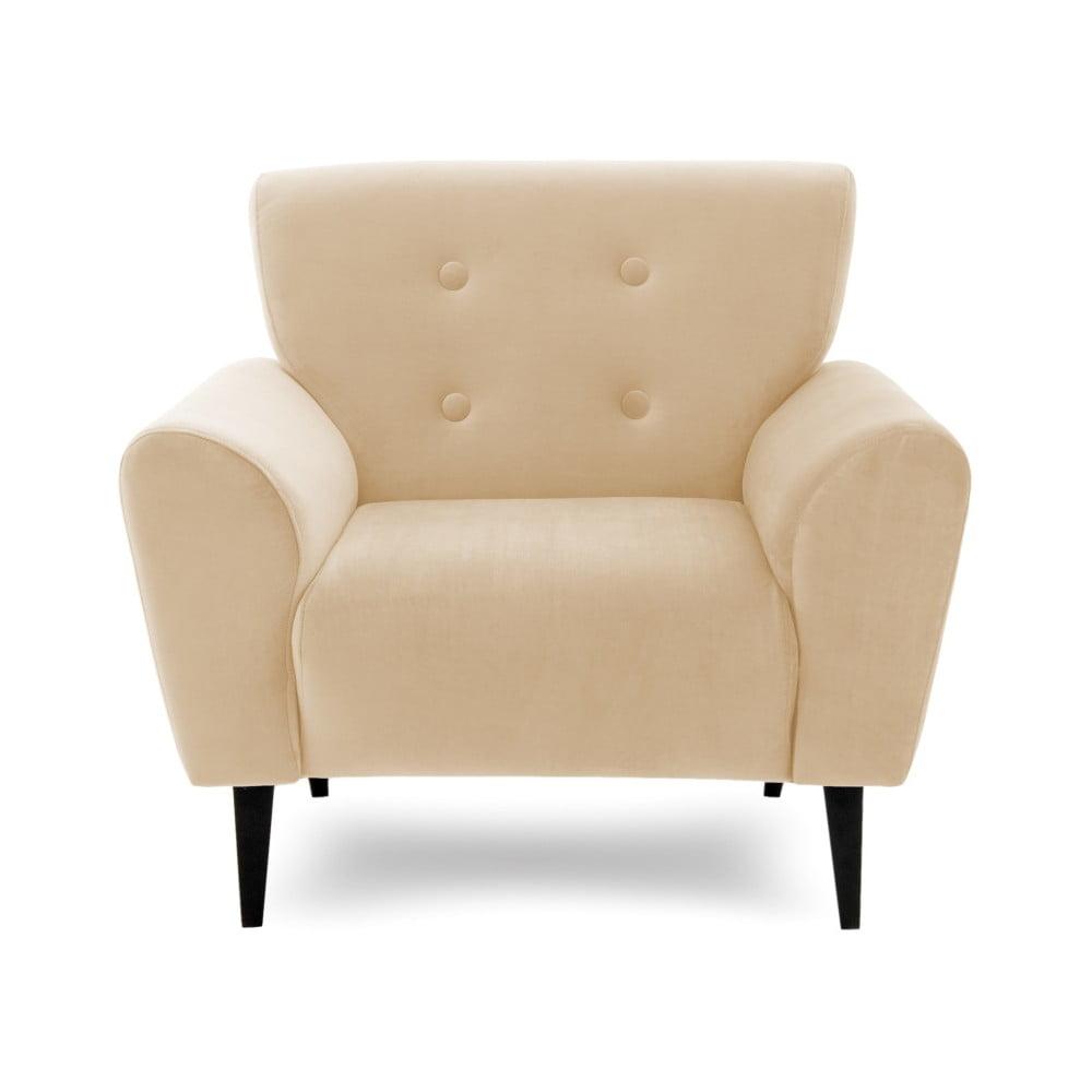 Piaskowobrązowy fotel Vivnoita Kiara