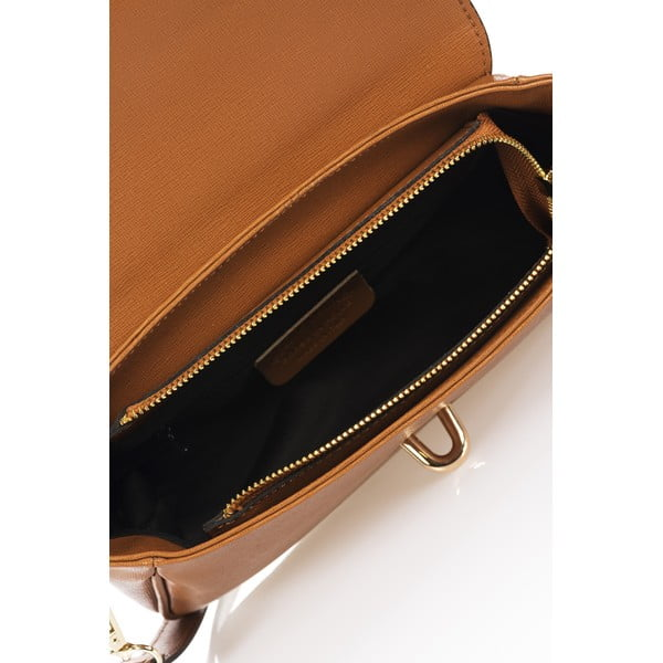 Skórzana torebka Markese 2355 Cognac