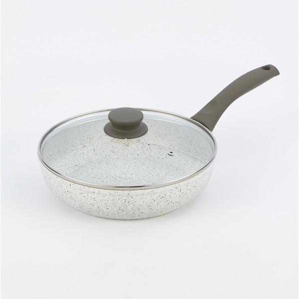Patelnia z pokrywką i szarą rączką Bisetti Grey, Ø 24 cm