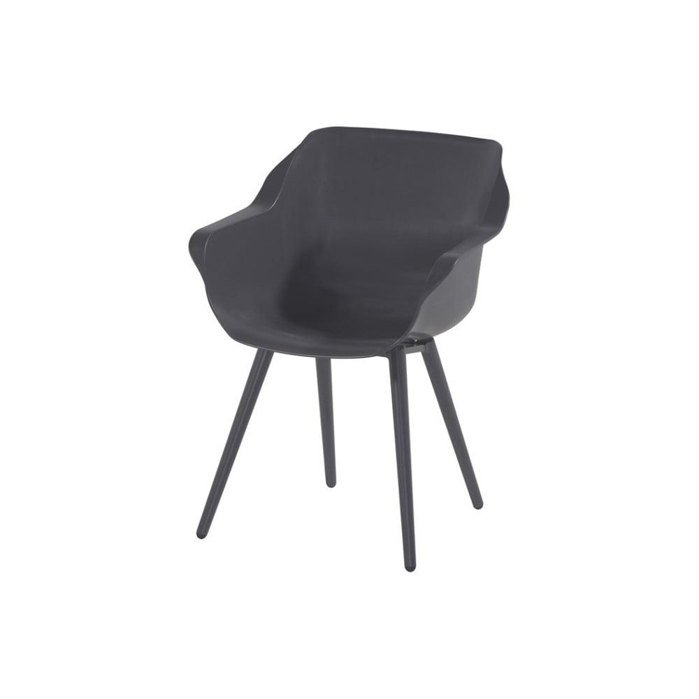 Komplet 2 antracytowych krzeseł ogrodowych Hartman Sophie Studio Armchair