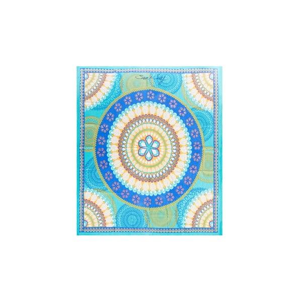 Niebieski koc plażowy Sun & Surf Mandala Marga