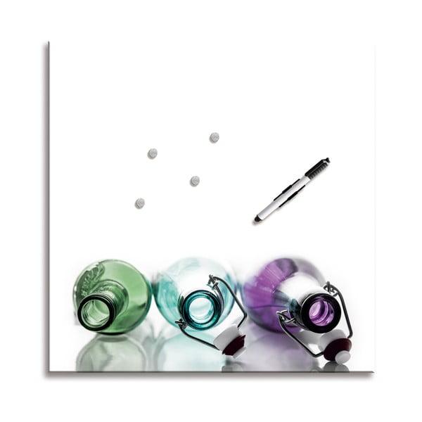 Tablica magnetyczna Coloured Bottles, 50x50 cm