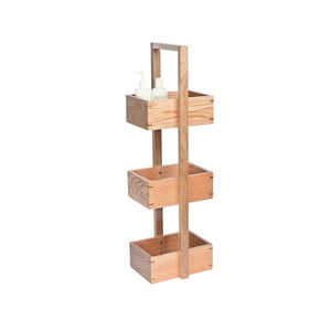 Regał łazienkowy z drewna dębowego Wireworks Caddy Wireworks Mezza, 84 cm