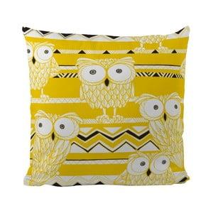 Poduszka Yellow Owls, 50x50 cm