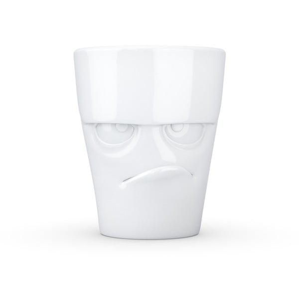 Biały wkurzony porcelanowy kubek z uchem 58products