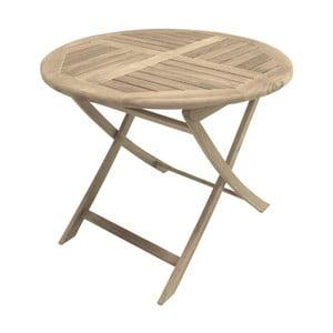 Ogrodowy stół rozkładany z drewna tekowego ADDU Solo, ⌀90cm