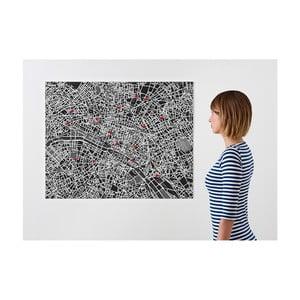 Czarna mapa ścienna Palomar Pin Paryż