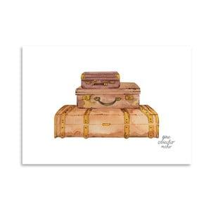 Autorski plakat Suitcases, 30x42 m
