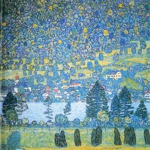 Reprodukcja obrazu Gustava Klimta - Lake, 45x45 cm