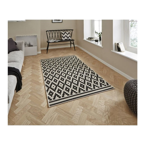 Czarny dywan Think Rugs Cottage, 120x170 cm