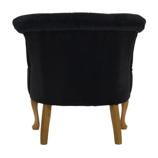 Czarny   fotel Wintech Balzac