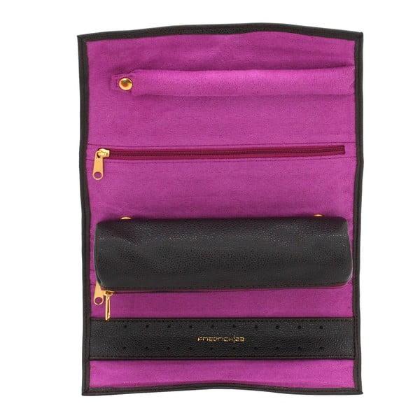 Etui na biżuterię Ascot Roll Dark Brown, 20x8x6 cm