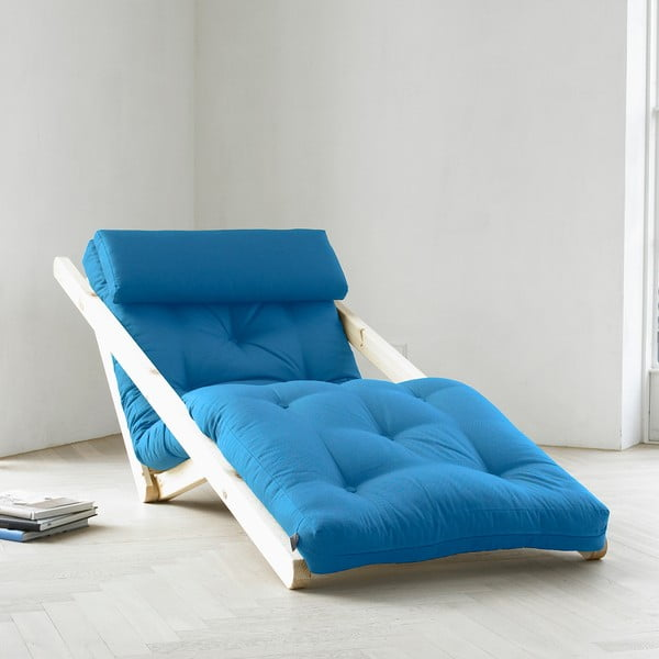 Szezlong Karup Figo, Raw/Horizon Blue, 70 cm