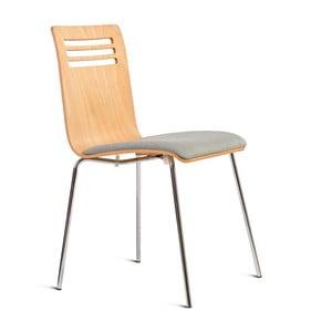 Krzesło z siedziskiem z drewna jesionowego Charlie Pommier Comfort
