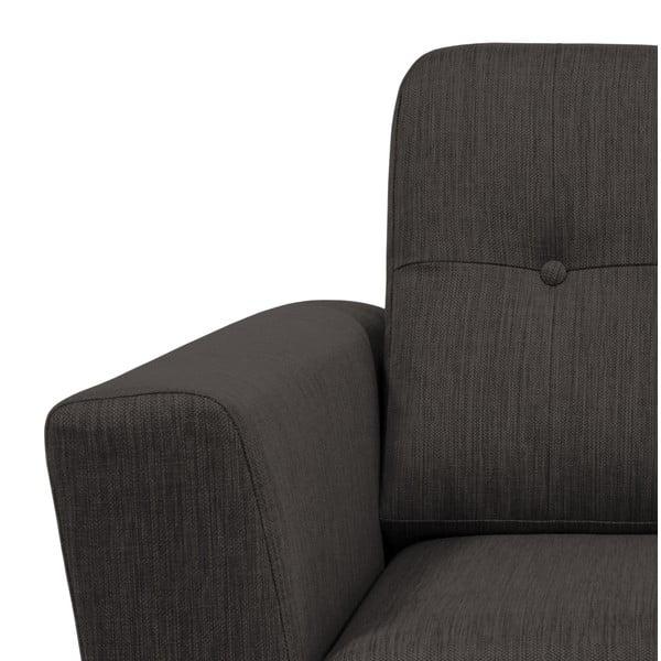 Antracytowa sofa 2-osobowa Vivonita Harlem