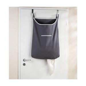 Szary wiszący kosz na pranie Wenko Door Laundry