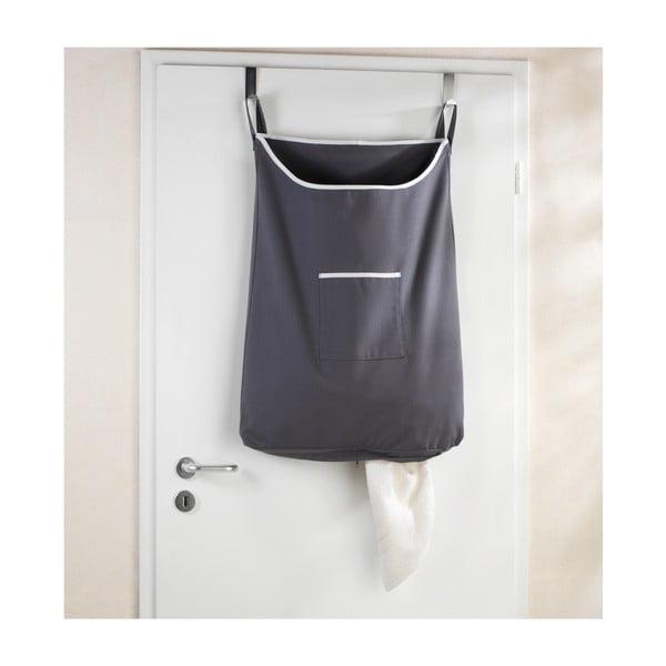 Szary wiszący kosz na pranie Wenko Door Laundry, 65 l