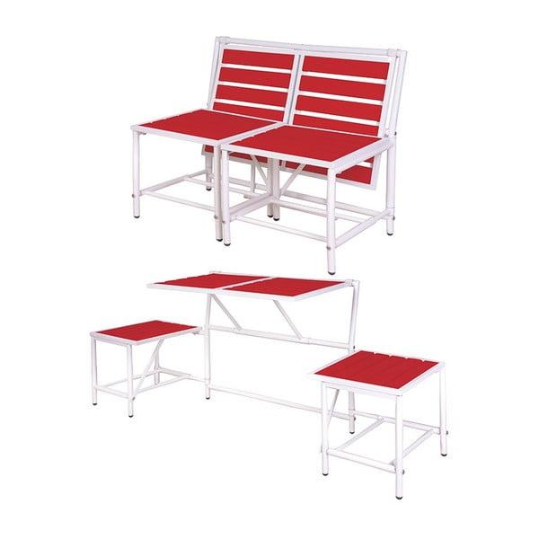 Składana ławka Magical, czerwona