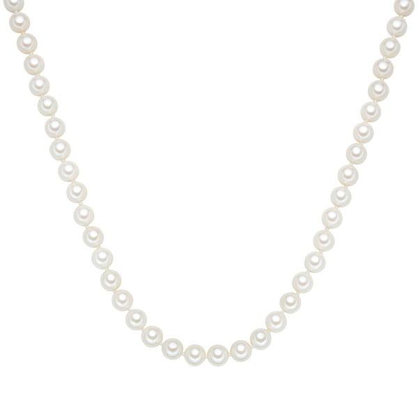 Perłowy naszyjnik Muschel, białe perły 8 mm, długość 40 cm