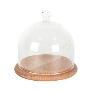 Szklana taca z kloszem ComingB Cloche, 11 cm