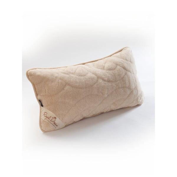 Brązowa poduszka wełniana Royal Dream Camel Lines, 40x70 cm
