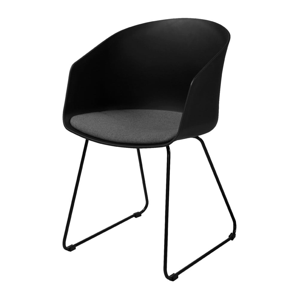 Czarne krzesło Interstil Moon 40
