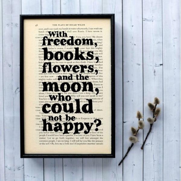 Plakat w   drewnianej ramie Oscar Wilde Freedom