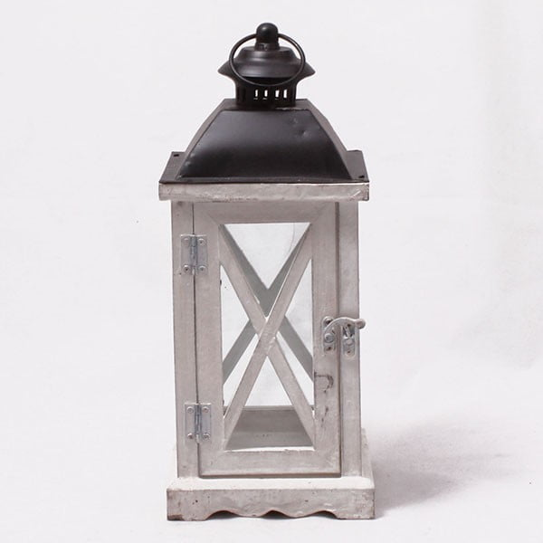 Drewniany lampion Little House