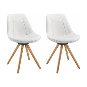 Zestaw 2 białych krzeseł Støraa Mel