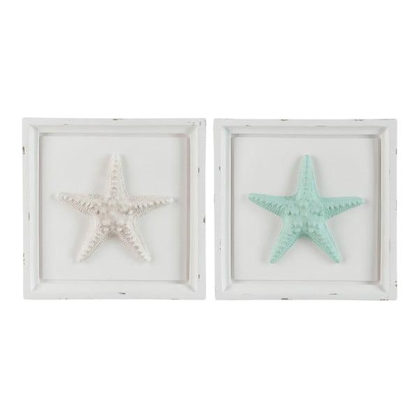 Zestaw 2 ramek dekoracyjnych Starfish, 31x5x30 cm