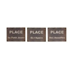 Zestaw 3 tabliczek Antic Line Place