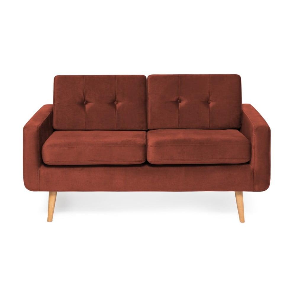Czerwona sofa 2-osobowa Vivonita Ina Trend
