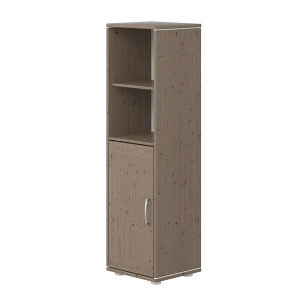 Brązowa szafka dziecięca z drewna sosnowego Flexa Classic, wys. 133 cm