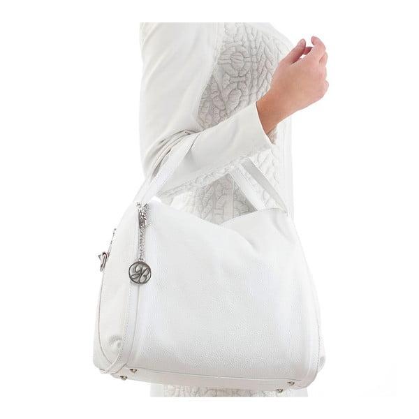 Skórzana torebka Riccardo, biała