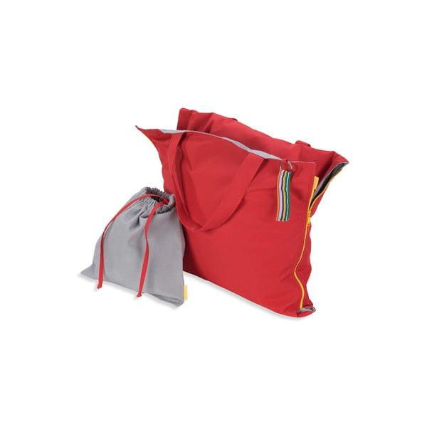Przenośny leżak + torba Hhooboz 150x62 cm, czerwony