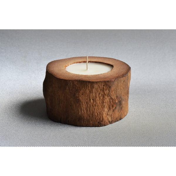 Palmowa świeczka Legno o zapachu wanilii i paczuli, 40 godz.