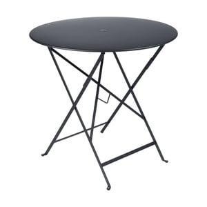 Antracytowy stolik ogrodowy Fermob Bistro, Ø 77 cm