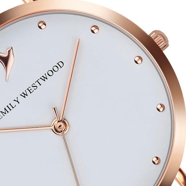 Zegarek damski z bransoletką ze stali nierdzewnej w miedzianym kolorze Emily Westwood Birdie