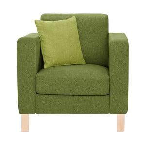 Zielony fotel z jasnozieloną poduszką Stella Cadente Canoa